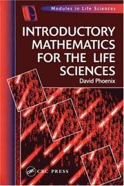 Cover of: Introductory mathematics for the life sciences