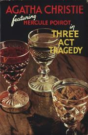 Cover of: Murder in three acts