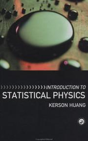 Cover of: Introduction to Statistical Physics | Kerson Huang