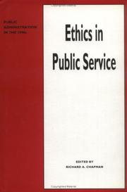 Cover of: Ethics in public service |