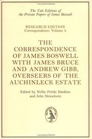 Cover of: The Correspondence of James Boswell with James Bruce and Andrew Gibb | James Boswell