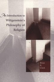 Cover of: An introduction to Wittgenstein's philosophy of religion