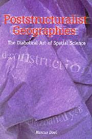 Cover of: Poststructuralist geographies