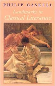Cover of: Landmarks in Classical Literature | Philip Gaskell