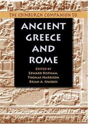 Cover of: The Edinburgh companion to ancient Greece and Rome
