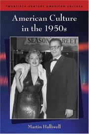 Cover of: American Culture in the 1950s (Twentieth-Century American Culture)
