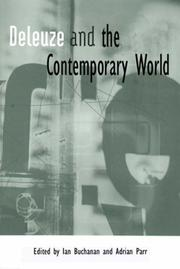 Cover of: Deleuze and the Contemporary World (Deleuze Connections) | Ian Buchanan