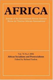 Cover of: African Socialisms and Postsocialisms (Africa) | Anne Pitcher