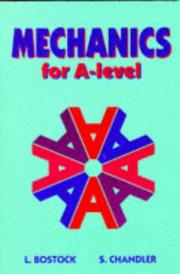 Cover of: Mechanics for A-Level (Core Maths) | L. Bostock