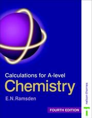 Cover of: Calculations for A-Level Chemistry (Calculations for A Level Chemistry) by Eileen Ramsden