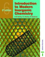 Introduction to modern inorganic chemistry by K. M. Mackay