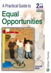 Cover of: A Practical Guide to Equal Opportunities (A Practical Guide to) | Hyacinth Malik