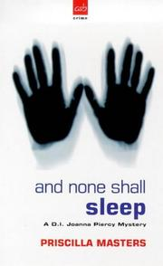 Cover of: And None Shall Sleep (Joanna Piercy Mysteries)