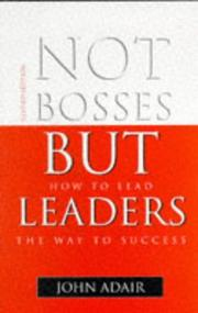 Cover of: Not Bosses But Leaders