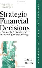 Cover of: Strategic Financial Decisions (Financial Skills Series)
