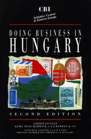 Cover of: Doing business in Hungary |