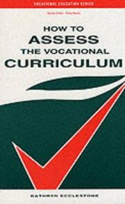 Cover of: How to assess the vocational curriculum