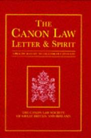 Cover of: The Canon Law (Canon Law Society)