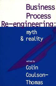 Cover of: Business Process Re-Engineering