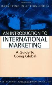 Introduction to International Marketing (Marketing in Action) by Keith Lewis, Matthew Housden