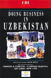 Cover of: Doing Business with Uzbekistan (Global Market Briefings Series) | Adam Jolly