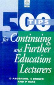 Cover of: 500 TIPS FOR FURTHER & CONT ED LECTURERS (The 500 Tips Series)