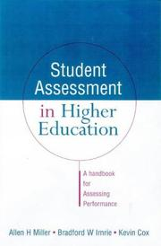 Cover of: Student assessment in higher education