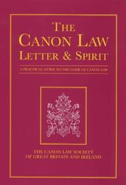 Cover of: The Canon Law: Letter & Spirit