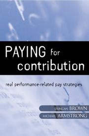 Cover of: Paying for Contribution | Michael Armstrong