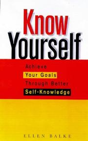 Cover of: Know Yourself | Ellen Blake