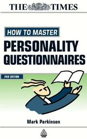 Cover of: How to Master Personality Questionnaires