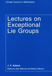 Cover of: Lectures on exceptional Lie groups
