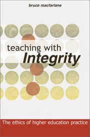 Cover of: TEACHING WITH INTEGRITY | Macfarlane