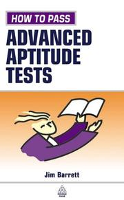 Cover of: How to Pass Advanced Aptitude Tests