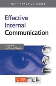Cover of: Effective internal communication
