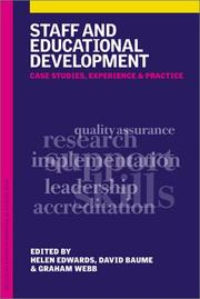 Cover of: Staff and Educational Development |