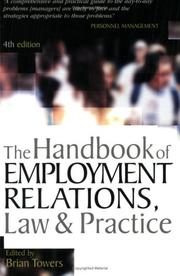Cover of: The handbook of employment relations | Brian Towers