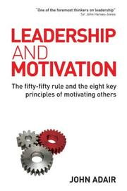 Cover of: Leadership and Motivation