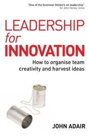 Cover of: Leadership for Innovation