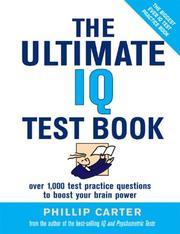 Cover of: The Ultimate IQ Test Book | Philip Carter