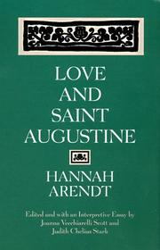 Cover of: Love and Saint Augustine