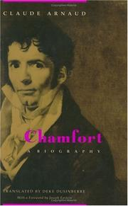 Cover of: Chamfort, a biography
