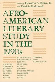 Afro-American Literary Study in the 1990s (Black Literature and Culture Series)