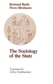 Cover of: The sociology of the state