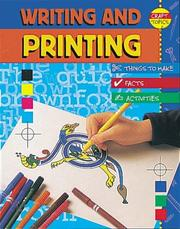 Cover of: Writing and Printing (Craft Topics)