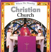 Cover of: Christian Church (Where We Worship)