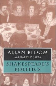 Cover of: Shakespeare's politics