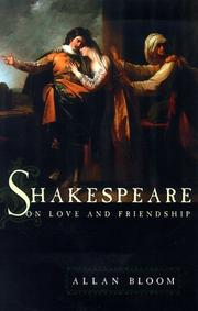 Cover of: Shakespeare on love and friendship