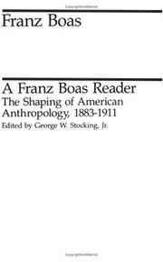 Cover of: A Franz Boas reader