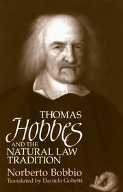 Cover of: Thomas Hobbes and the natural law tradition